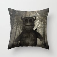 In the forest. Throw Pillow