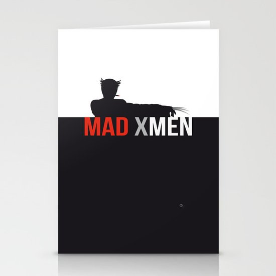 MAD X MEN Stationery Card