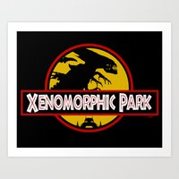 Xenomorphic Park  Art Print
