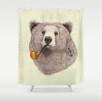 Sailor Bear Shower Curtain