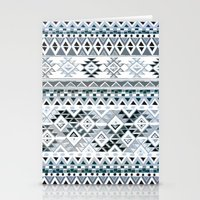 GEO TRIBAL N. // GRAY VE… Stationery Cards