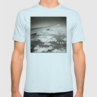 { flying high } Mens Fitted Tee Light Blue SMALL