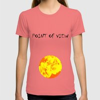Ali orange Womens Fitted Tee Pomegranate SMALL