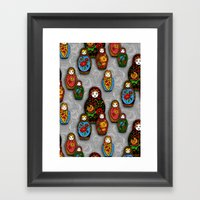 Matryoshki pattern Framed Art Print