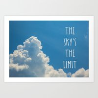 The Sky's The Limit Art Print
