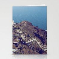 Santorini Stairs Stationery Cards