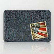 Grunge sticker of United States flag iPad Case
