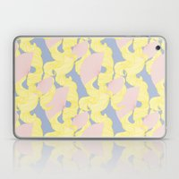 Spotted Fan & Trailing Hair // Pink & Yellow Pastels Laptop & iPad Skin