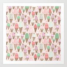 Ice Cream Cones! Art Print