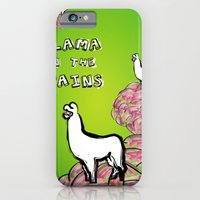 Llama on the Brains iPhone 6 Slim Case