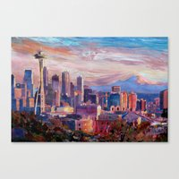 Seattle Skyline With Spa… Canvas Print