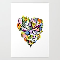 Latinoamérica LOVE Art Print