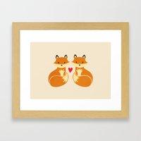 Love Foxes Framed Art Print