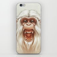 The White Angry Monkey iPhone & iPod Skin