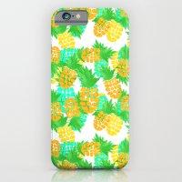 Watercolor Pineapples Tropic iPhone 6 Slim Case
