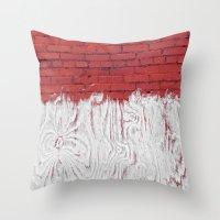 Bleached Brick Throw Pillow