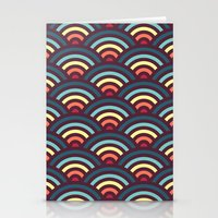 rainbowaves pattern Stationery Cards
