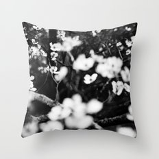 Surrounded by Dreams B&W Throw Pillow