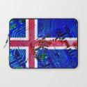 circuit board Flag (iceland) Laptop Sleeve