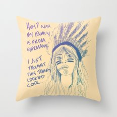 Attention Whore - Color Throw Pillow