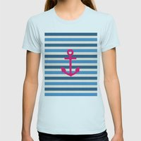 STAY Womens Fitted Tee Light Blue SMALL