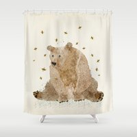 Bear Grizzly  Shower Curtain