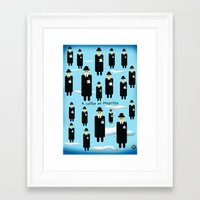 A coffee at Magritte Framed Art Print