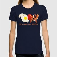 Today Is A Good Day To F… Womens Fitted Tee Navy SMALL