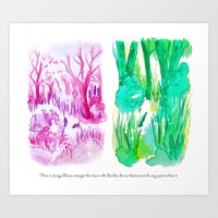 sound of the forest Art Print
