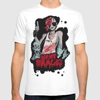 Want Brains  Mens Fitted Tee White SMALL