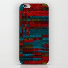 Dark reds in lines of chalk iPhone & iPod Skin