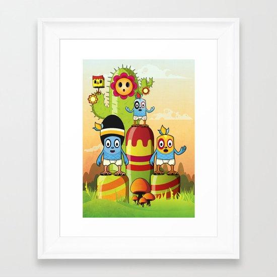 We are family Framed Art Print
