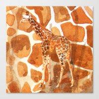 Camouflage Giraffe, Anim… Canvas Print