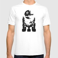The Dark Side Mens Fitted Tee White SMALL