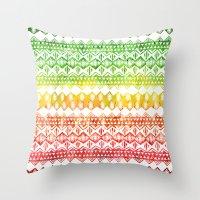 One Love Tribal {white} Throw Pillow