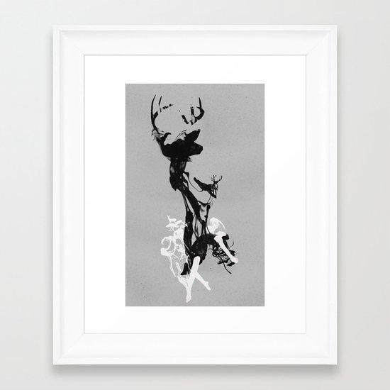 Last time I was a Deer Framed Art Print