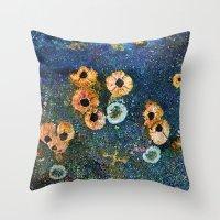 Abstract beautiful barnacles Throw Pillow
