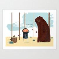 Did You Poop In The Wood… Art Print