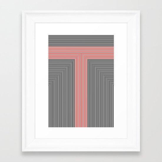 T like T Framed Art Print