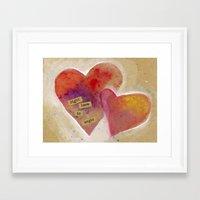 Jenn's Valentine Framed Art Print