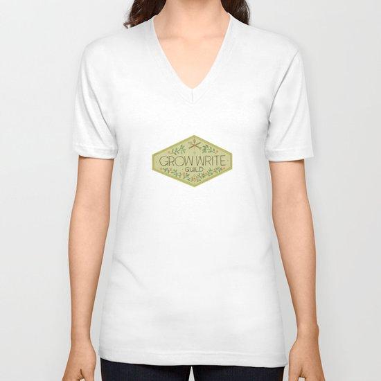Grow Write Guild Seal V-neck T-shirt