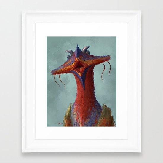 Beak portrait Framed Art Print