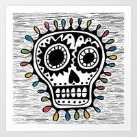 Sugar Skull - Sharpie Art Print