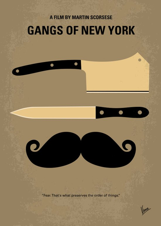 No195 My Gangs of New York minimal movie poster Art Print
