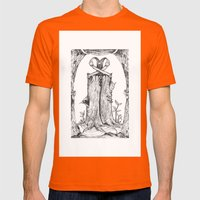 Haunted Clothing- The Et… Mens Fitted Tee Orange SMALL