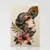Gipsy Girl - Tattoo Stationery Cards