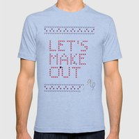 Let's Make Out Mens Fitted Tee Tri-Blue SMALL