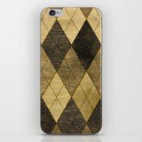Wooden big diamond iPhone & iPod Skin