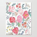 Watercolor Floral Print Canvas Print
