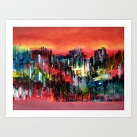 City Of Colour And Light… Art Print